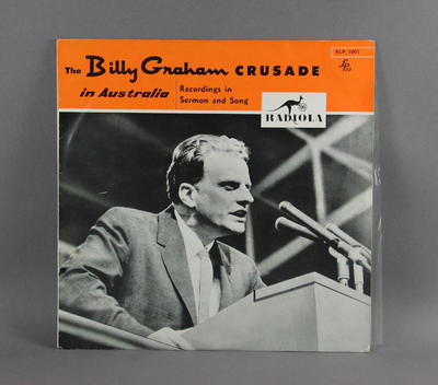 "Vinyl record, ""The Billy Graham Crusade in Australia"""