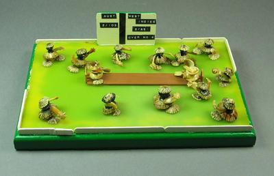 Diorama in sea shells, Australia v West Indies cricket match