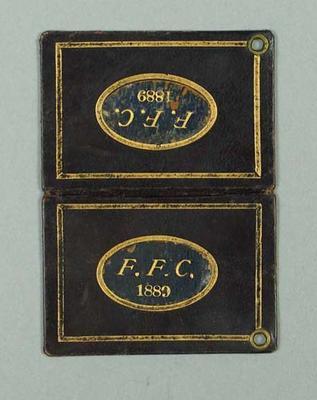 Season ticket, Fitzroy Football Club 1889
