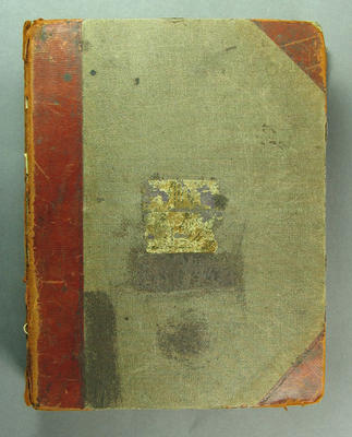 Scrap book, newspaper clippings related to cricket c1874-80