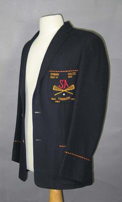 South Australian lacrosse team blazer, worn by Barry Benger c1960s