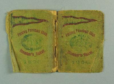 Season ticket, Fitzroy Football Club 1895