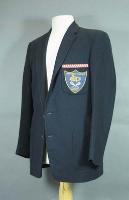 Navy single-breasted blazer - Camberwell-Glen Iris Lacrosse Premiers 1953-54