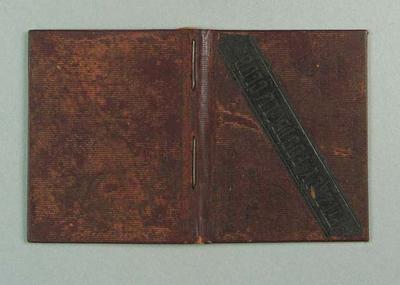 Season ticket, Fitzroy Football Club 1901