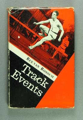 "Book, ""Track Events"" by Rex van Rossum"