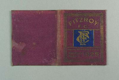 Season ticket, Fitzroy Football Club 1925