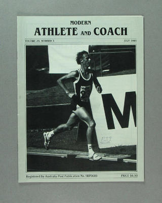 "Magazine, ""Modern Athlete and Coach"" vol 29 no 3 July 1991"