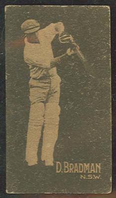 1933 Hoadley's Chocolates Ltd Cricketers D Bradman trade card