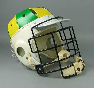 Lacrosse helmet used by Thomas Hardy at 1986 Lacrosse World Championships