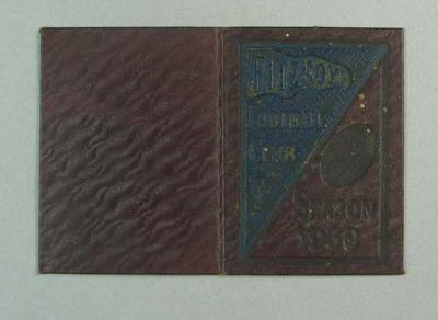 Season ticket, Fitzroy Football Club 1930; Documents and books; 1990.2248.31