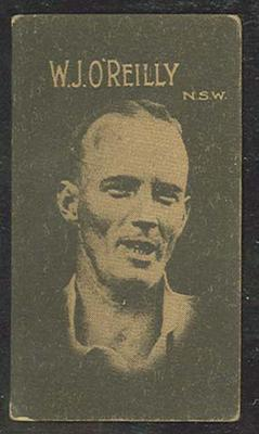 1933 Hoadley's Chocolates Ltd Cricketers W J O'Reilly trade card; Documents and books; M12694.13