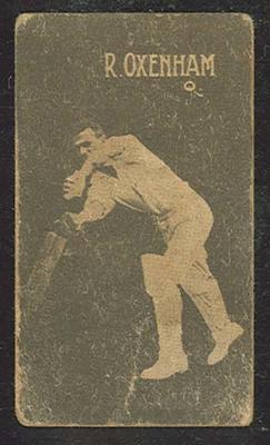1933 Hoadley's Chocolates Ltd Cricketers R Oxenham trade card