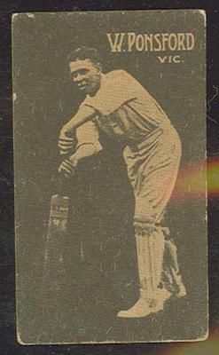 1933 Hoadley's Chocolates Ltd Cricketers W Ponsford trade card; Documents and books; M12694.15