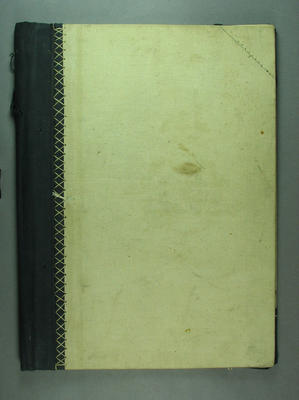 Pattern book cover, c1928-37; Documents and books; M9065.1