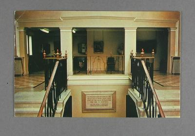 Postcard, Lord's Memorial Gallery; Documents and books; M12599
