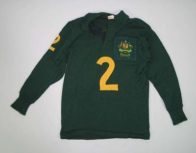 Australian lacrosse team jumper, worn by Doug Fox in 1972