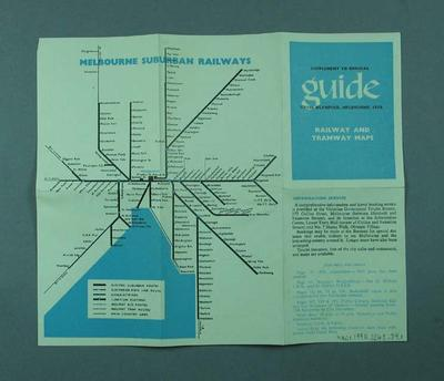 """Map, """"Official Guide XVI Olympiad Melbourne 1956"""""""