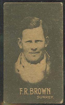 1933 Hoadley's Chocolates Ltd Cricketers F R Brown trade card; Documents and books; M12695.4