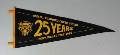Pennant, Richmond FC Cheer Squad Silver Jubilee 1959-1983