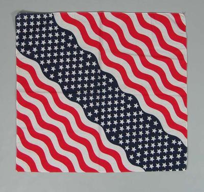 Cotton scarf, exchanged at 1986 World Cup Lacrosse Tournament