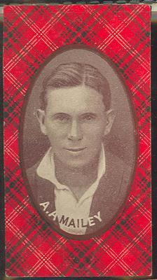 1921 McIntyre Bros Australian Champion Eleven 1920-21 A A Mailey trade card