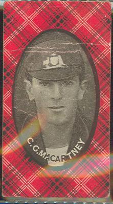 1921 McIntyre Bros Australian Champion Eleven 1920-21 C G Macartney trade card; Documents and books; M12718.8