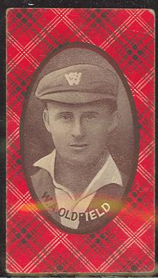 1921 McIntyre Bros Australian Champion Eleven 1920-21 W A Oldfield trade card