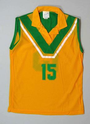 Sleeveless lacrosse shirt, used at 1986 World Cup Tournament