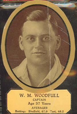 Card cut-out depicting W M Woodfull, c1934