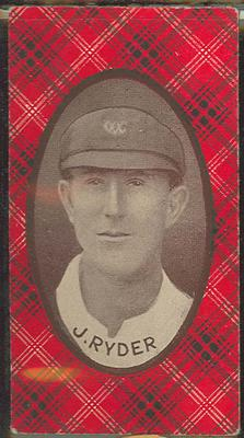 1921 McIntyre Bros Australian Champion Eleven 1920-21 J Ryder trade card