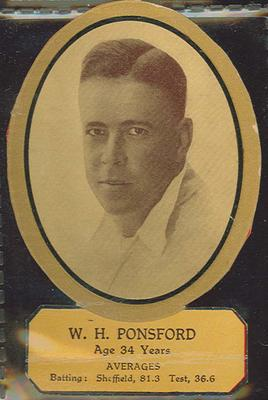 Card cut-out depicting W H Ponsford, c1934; Documents and books; M12719.2