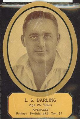 Card cut-out depicting L S Darling, c1934; Documents and books; M12719.3