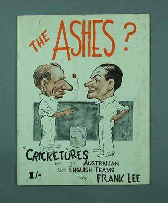 Book, Caricatures of Australian & English cricketers - 1936-37; Documents and books; M12725
