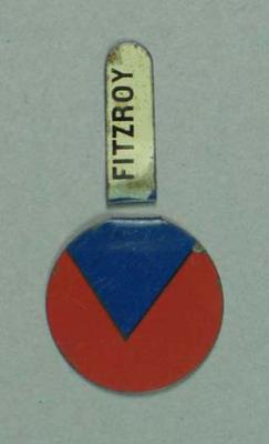 Fitzroy FC supporter's button c1930s