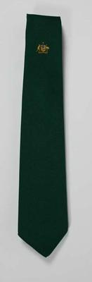 One dark green official tie of the Australian Lacrosse Team used in the 1960s