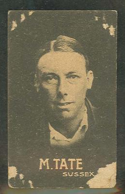 1932-33 Australian Licorice Pty Ltd Cricketers M Tate trade card