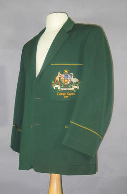 Blazer - 1934 Empire Games, worn by J.C. 'Jack' Horsfall