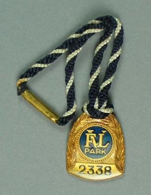 VFL Park Member's Badge No 2338, Season 1970
