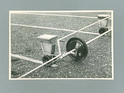 Photograph showing Linemaster line-marker in position on bar