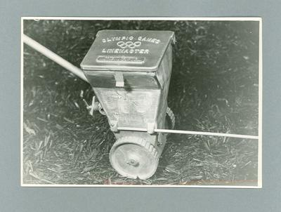 Photograph of 1956  Olympic Games LineMaster machine invented by G.P. Cleeland