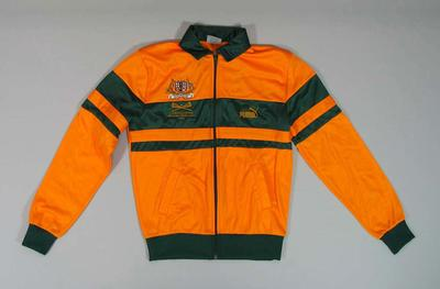 Tracksuit top, worn at 1986 World Cup Lacrosse Tournament