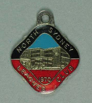 North Sydney Leagues Club Member's Badge  1970 - No 6127; Trophies and awards; 1987.1707.18