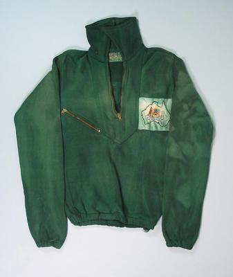 Australian team windcheater, worn by Winsome Cripps