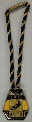 Membership medallion, Collingwood Football Club 1974; Trophies and awards; 1990.2241.3