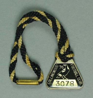 Membership medallion, Collingwood Football Club 1976; Trophies and awards; 1990.2241.5