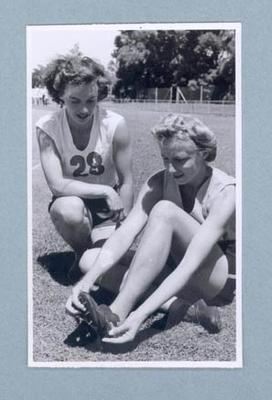 Photograph of Shirley Strickland with Verna Johnston, c1947-60; Photography; 2003.3903.1433