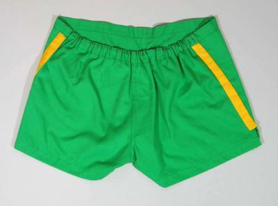Australian lacrosse team shorts, worn by Doug Fox during 1974 World Series