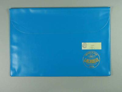 Plastic folder, 1986 World Cup Lacrosse Tournament