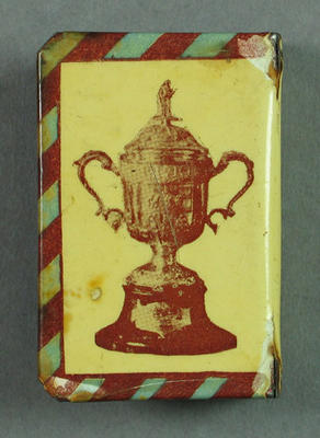 Matchbox cover, Garland-McHarg Cup Records c1926