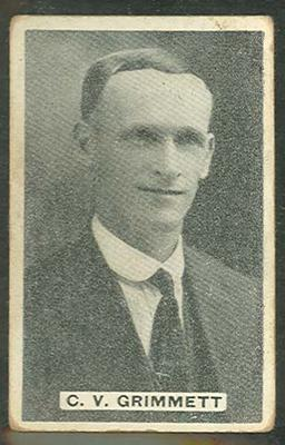 1932/33 Sweetacres Cricketers C V Grimmett trade card